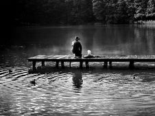 Free Fisherman On Pier Royalty Free Stock Photo - 90357005