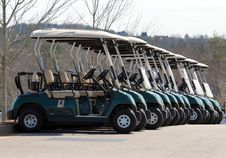 Free Golf Carts Stock Images - 90357464