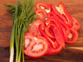 Free Vegetables On Cutting Board Stock Photography - 9041712