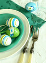 Free Plate, Knife, Fork And Easter Eggs Royalty Free Stock Photo - 9041905
