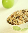 Free Muesli And Green Apple Royalty Free Stock Photos - 9042348