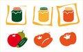 Free Stylish Icons Of Food Royalty Free Stock Photo - 9044105