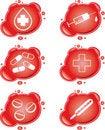 Free Medical Icons Royalty Free Stock Image - 9044646