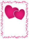 Free Vector Romantic Card. Stock Images - 9046654