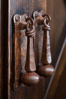 Ancient Medieval Doorbell Stock Images