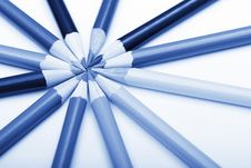 Pencils In Round Shape Stock Photography