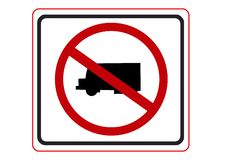 Free No Truck Symbol Royalty Free Stock Photo - 9041285