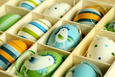 Free Easter Eggs With Ornament Stock Photography - 9041302