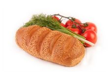 Free Bread, Dill And Tomato Royalty Free Stock Photo - 9041615
