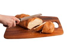 Free Hand Cutting Bread Stock Images - 9041644