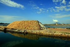 Trapani, Salt Bassins And Mills Stock Image