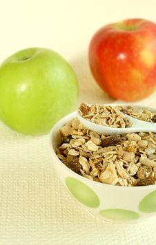 Free Muesli And Apples Royalty Free Stock Photo - 9042255