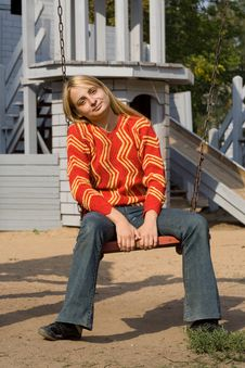 Free Girl In Red Pullover Stock Image - 9042531