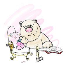 Free Bear And Sleeping Heart Stock Photos - 9043293