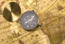 Free Old Compass Stock Photo - 9044370