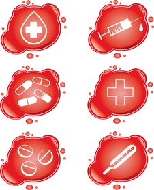 Free Medical Icons Royalty Free Stock Image - 9044646