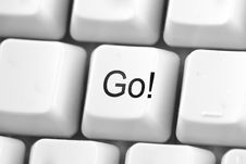 Go! Button Royalty Free Stock Photos