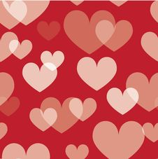 Free Seamless Valentine Pattern Stock Photography - 9045892