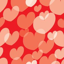 Free Seamless Valentine Pattern Royalty Free Stock Photo - 9046025