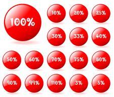 Vector Aqua Style Buttons. Stock Photos