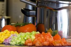Free Cooking Vegetables Stock Photography - 9046342
