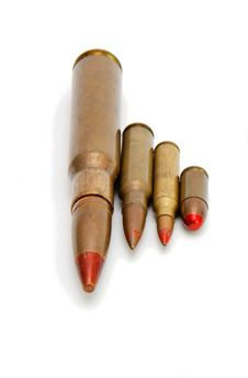 Free Four Red-tipped Tracer Cartridges Stock Image - 9046421