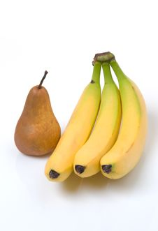 Free Bananas With Bosc Pear Royalty Free Stock Images - 9046669