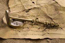Free Old Letter Royalty Free Stock Image - 9046706
