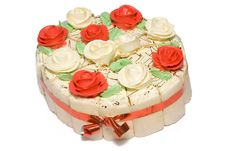 Free Festive Cake With Roses Stock Images - 9047024