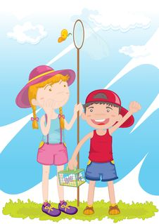 Free Boy And Girl Stock Image - 9047111
