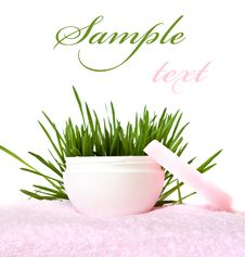 Free Face Cream On A White Background Royalty Free Stock Images - 9047349