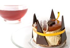 Free Sweet Cake And Cup Of Tea Stock Image - 9047411