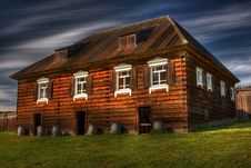 Free Old Wooden House In Fort Ross Royalty Free Stock Photos - 9047488