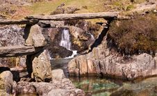 Free Granite Bridge Over Rock Pools Royalty Free Stock Photo - 9048245