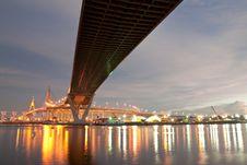 Free Bridge Over The River Stock Photos - 9048573