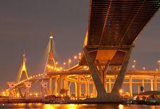 Free Bridge Over The River Stock Photos - 9048673