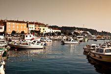 Free View Of Harbour In Rovinj, Croatia Royalty Free Stock Image - 9048756
