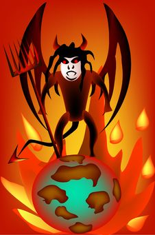 Free Devil On The Planet Royalty Free Stock Images - 9049629