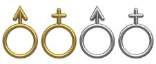 Free Male And Female Symbols Stock Photography - 9049662
