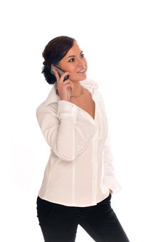 Beautiful Businesswomen With Mobile Phone Stock Photography