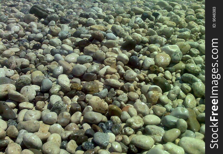 Stones on the bank of Black sea