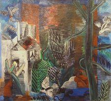 Free &x22;Le Jardin Abandonné&x22;, Raoul Dufy, 1913. Musée D Art Moderne De La Ville De Paris, Palais De Tokyo. Stock Image - 90427141