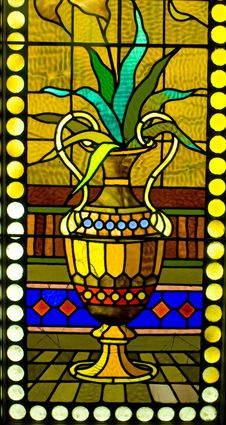 Free Stained Glass Window Detail Royalty Free Stock Images - 90427309