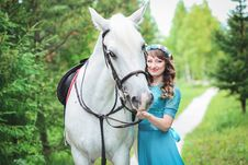 Free Horse And Woman Royalty Free Stock Image - 90428656