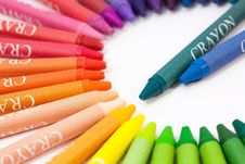 Free Colorful Crayons Stock Images - 90429254