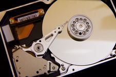 Free Silver Hard Drive Interals Stock Photos - 90429493