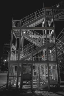 Free External Stairway At Night Royalty Free Stock Image - 90429676