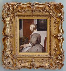 Free &x22;Femme Au Virginal&x22;, Gabriel Metsu, Vers 1662. Royalty Free Stock Image - 90488476