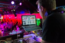 Free DJ Playing  Stock Images - 90490594