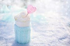 Free Close Up Of Frappe Drink Stock Image - 90490601